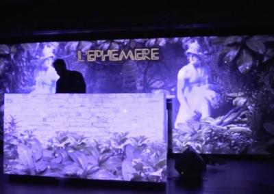 Mur de LED pour L'Éphémère Club